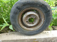 2 x Classic Mini 10 inch steel wheels (tyres no good)
