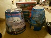 Disney cars lamp light shade and curtains