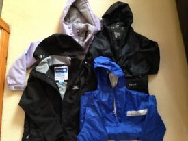 4 kids waterproof jackets