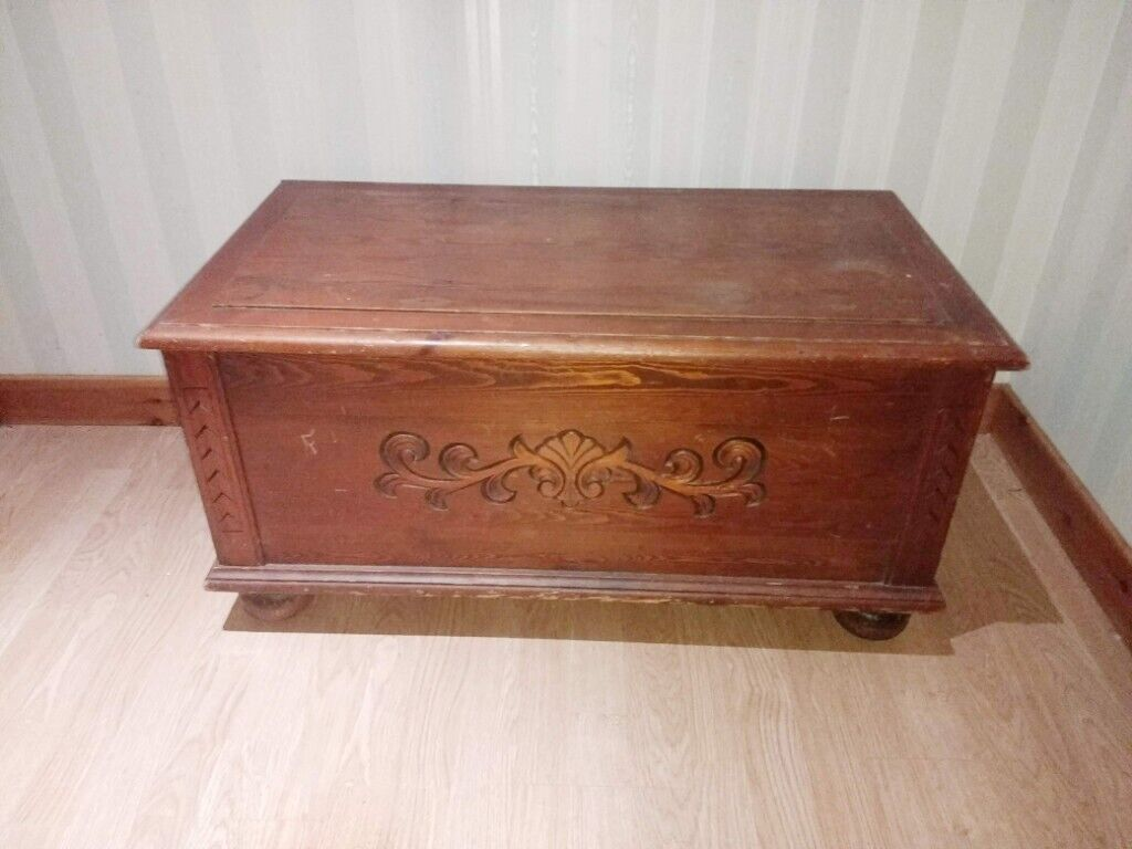 Incredible Pine Blanket Box Storage Ottoman Solid Wood Toys Tools In Inverness Highland Gumtree Alphanode Cool Chair Designs And Ideas Alphanodeonline