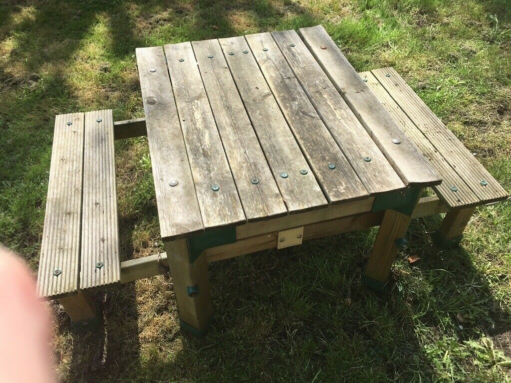Awesome Wooden Picnic Table And Water Table Sand Pit In Sutton London Gumtree Pabps2019 Chair Design Images Pabps2019Com