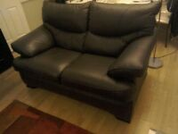Leather 3 piece suite-recliner 3 seater and chair, plus 2 seater
