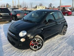 2016 Fiat 500 SPORT / LEATHER / *AUTO* / 77KM