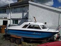 16ft Fishing Boat with 60HP Yamaha Outboard Engine. Includes trailer