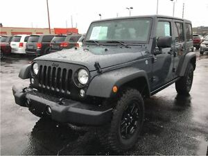 2017 Jeep WRANGLER UNLIMITED Willys Wheeler**DEMO**ONLY 1796 KMS