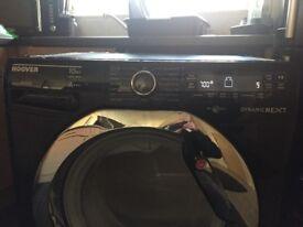 Black 10kg hoover washing machine