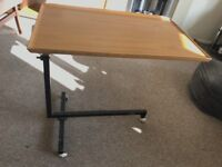 Trolley table / over chair table