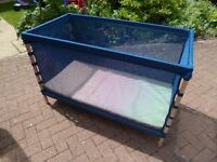 Ikea Flitig cot with mattress, nearly new