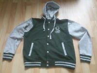Men's Unisex Hoodie (Hooded Jacket Buttoned) QUEEN'S UNIVERSITY BELFAST size M