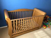 I'm selling a Charnwood sleigh cot bed has been used but in very good condition Pick up only