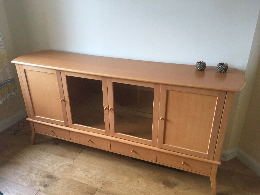 Sideboard ikea solid beech and beech veneer great for Pine sideboard ikea