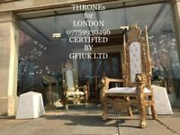 THRONE CHAIRS HIRE London - 07759930496