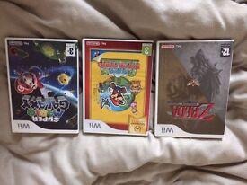 3 x Wii Games (paper mario, super galaxy mario, twilight princess)