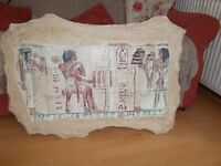 Egyptian hieroglyphic painting on plaster Mondi Art Price £50 ONO
