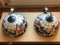 Art deco style lamp shades 2x