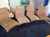 Set of wicker chairs