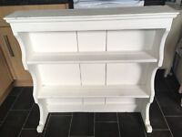 Kitchen dresser top shabby chic white painted shelves