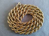 9ct 375 hallmark Rope chunky gold chain