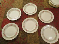 FINE BONE CHINA.....6 SIDE PLATES by PARAGON.....Design is BELINDA.....Absolute Quality.....£35.