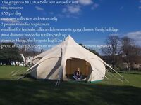 Stunning high quality Lotus Belle 5m tent £30 per day