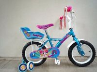 """FREE Bell with (2663) 14"""" APOLLO Girls Kids Childs Bike Bicycle + STABILISERS; Age: 4-5, 98-112 cm"""