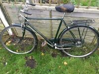 Gents Raleigh superbe classic town bike april 1982 rod brakes dynamo hub vintage