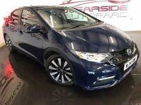 HONDA CIVIC 1.8 i-VTEC SR Hatchback 5dr (blue) 2014
