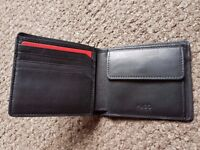 Hugo Boss Leather Subway Wallet With Coin Pocket
