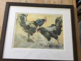 Sarah Birtnell print of chickens