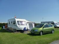 Abbey Vogue 620 Caravan, Twin Wheel, Fixed Bed, 4 Berth, End Bathroom in Excellent Condition