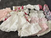 Baby girl clothes and shoes bundle! 0-3 months summer items!!!