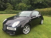 2010 Alfa Romeo Mito Lusso in Ebony Black - Excellent Condition and Low Mileage. Well Maintained.