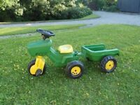 John Deere Childs Tractor And Trailer