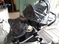 Great double pram for twins/single child/child minders etc with still plenty of use.