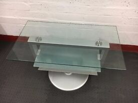 REDUCED - Modern Glass TV Unit