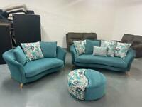Absolutely Gorgeous dfs sofa set 3&2 & footstool delivery 🚚 sofa suite couch furniture