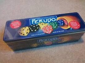 Perudo dice game in a tin (unused)