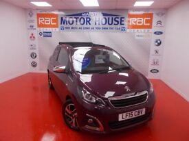 Peugeot 108 ALLURE (SOFT TOP) (£0.00 ROAD TAX) FREE MOT'S AS LONG AS YOU OWN THE CAR!!! 2015