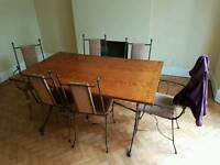 Amazing 6 seats table with chairs. Collection only.