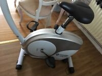 Horizon Digital Excercise Bike and Ab Trainer Cradle Fitness Home Gym