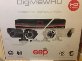 brand new Digiview - 8 Channel True HD CCTV System, bullet Cameras 2TB WITH 24'' LED CCTV MOINITOR