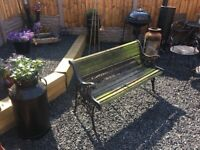 Lions Head Cast Iron Garden Bench