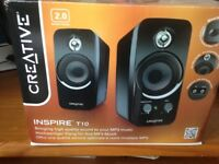 CREATIVE Inspire speakers (Model T10), used once