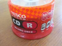 50 blank recordable CD - R Tesco