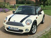 Mini Cooper Diesel 1.6 White 59 Reg 2009 R56 *HPI Clear, FSH, Genuine Hatch, Good Runner, Warranty