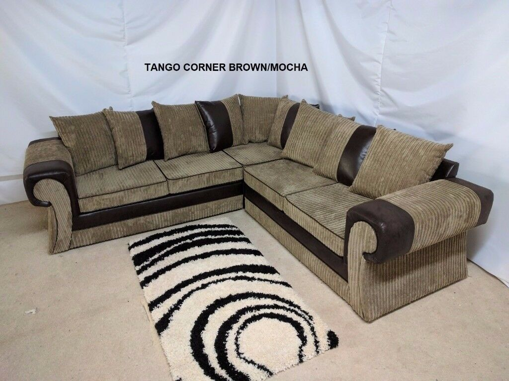 TANGO CORNER OR 3+2 SEATER SOFA IN MOCHA | FOOTSTOOL | SWIVEL CHAIR | UK EXPRESS DELIVERY