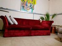 Laura Ashley Langham large 2 seater sofa in Caitlyn Cranberry RRP 1650