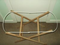 moses basket stand made by simply elegant nursery products ,in good clean condition strong/sturdy