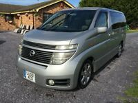 Nissan Elgrand Camper campervan same size as VW T5 Vivaro