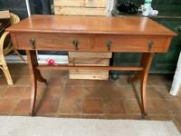 Antique Side Table With Drawers